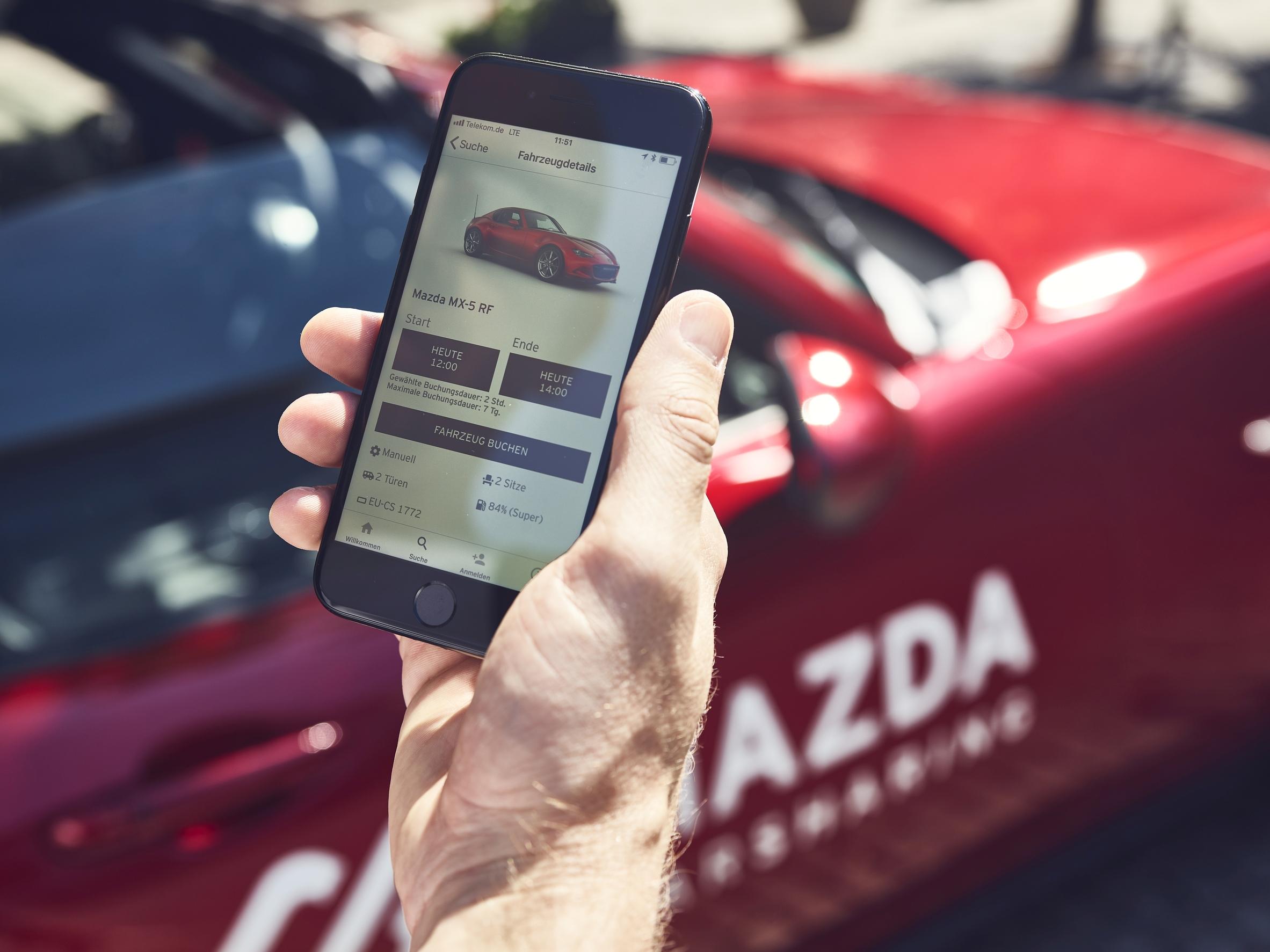 Mazda Carsharing App