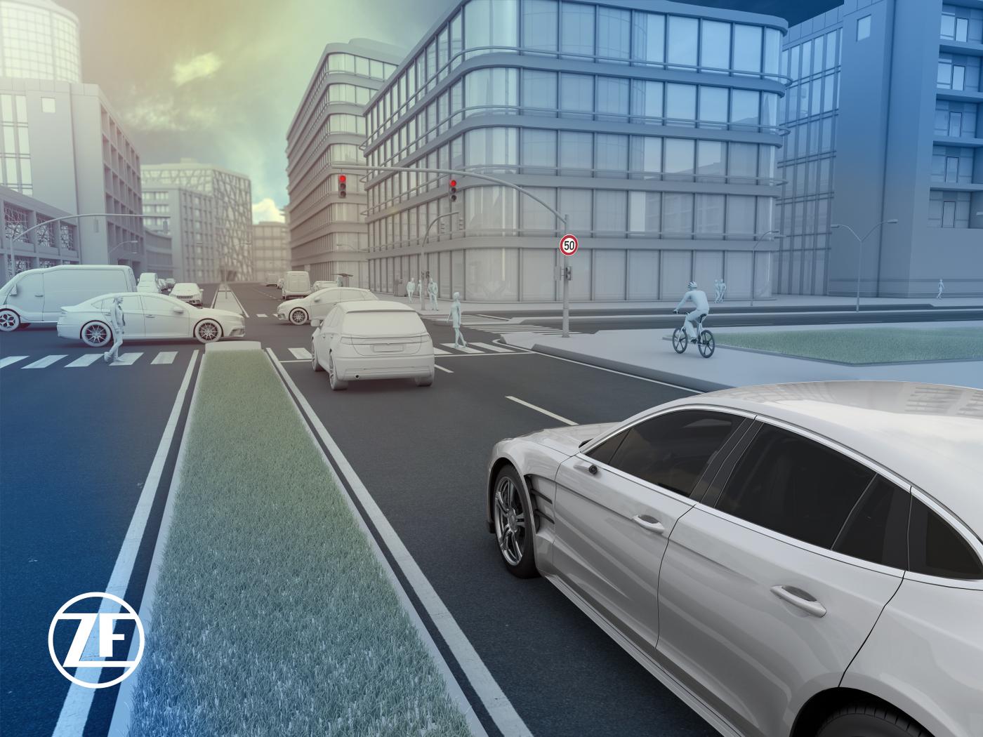 ZF Sensorik autonomes Fahren Lidar Radar