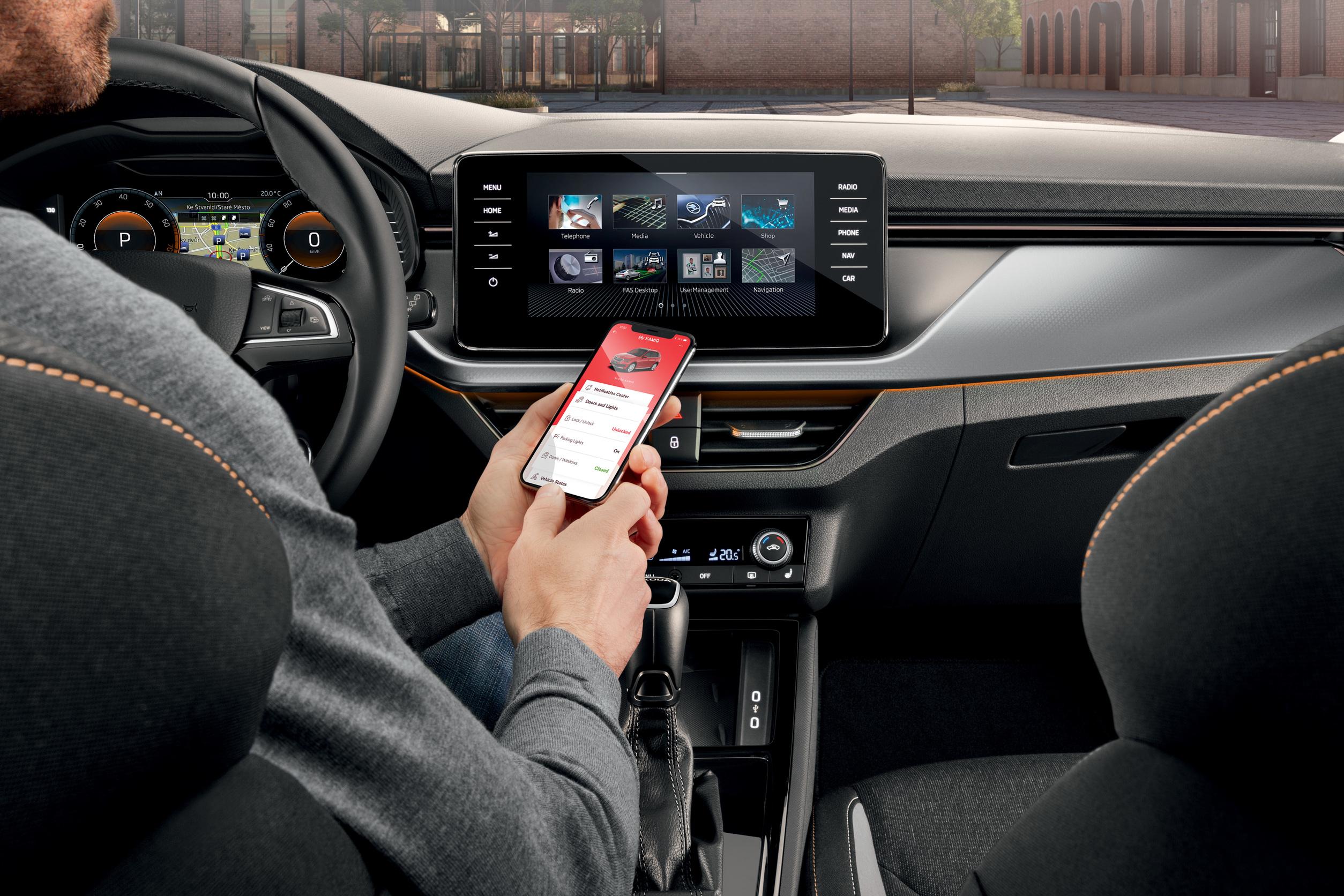 Škoda Connect Infotainment Smartphone