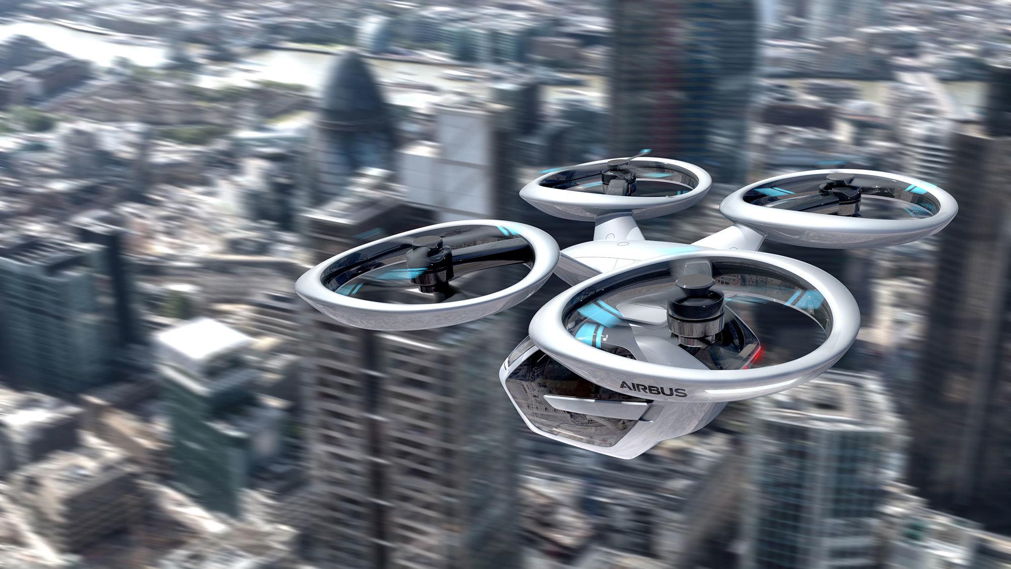 Drohne Flugtaxi BearingPoint Studie Skepsis Italdesign