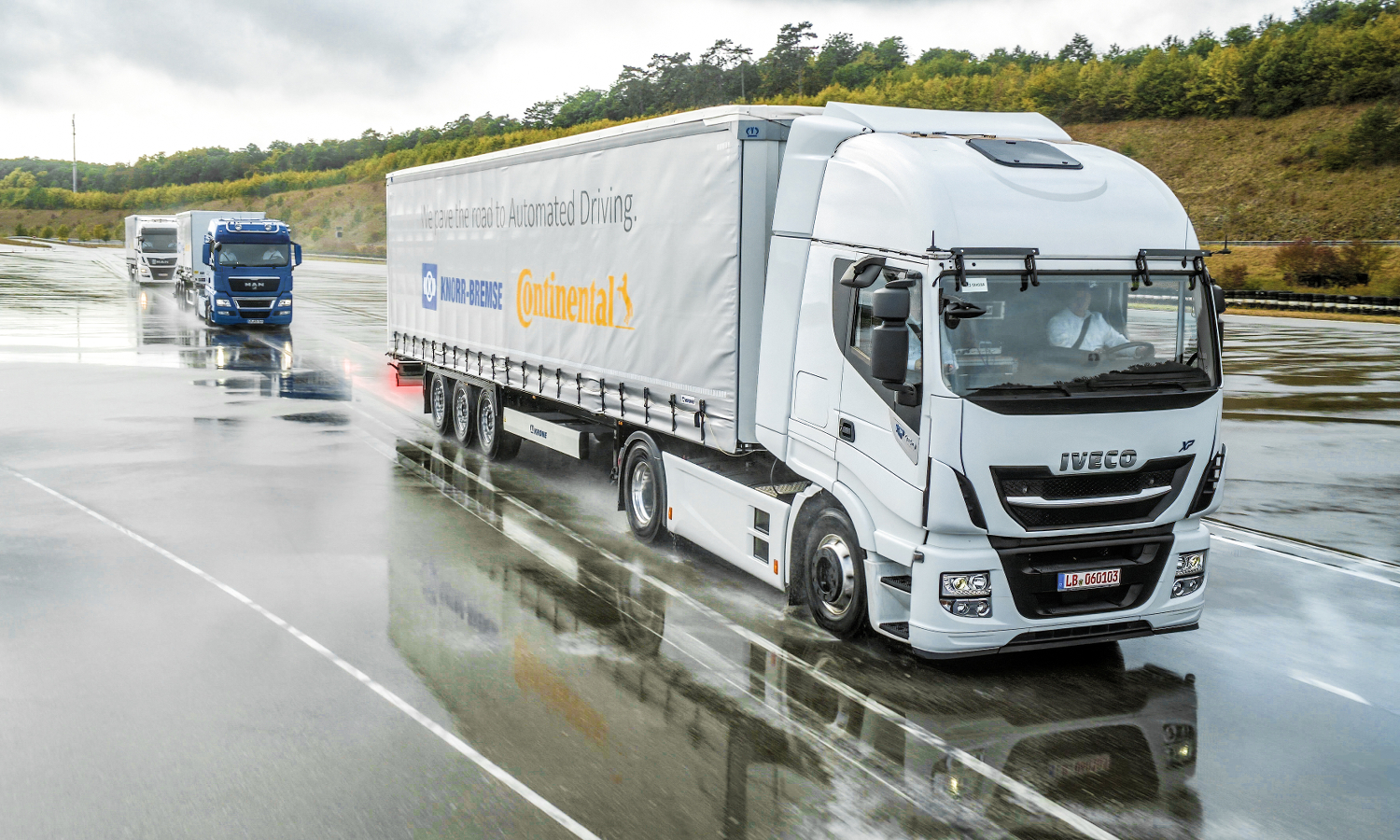 Continental Knorr-Bremse Platooning Lkw autonomes Fahren