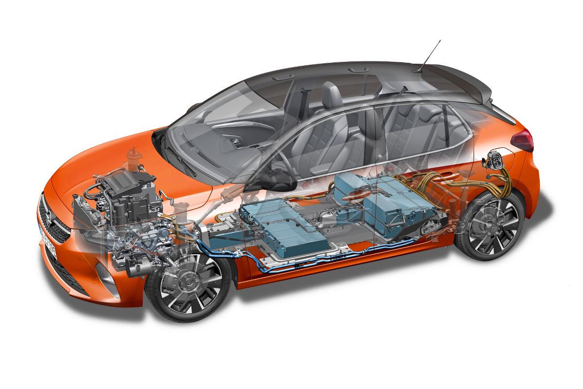 Opel Corsa E-Auto Batterie