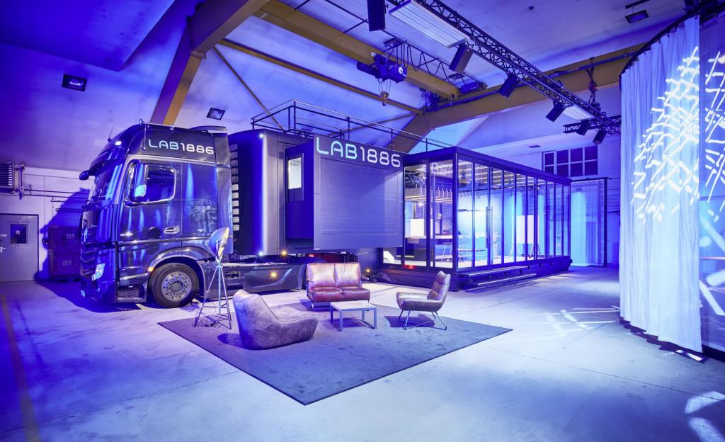 Ein Lkw von Daimlers Innovationsabteilung Lab1886