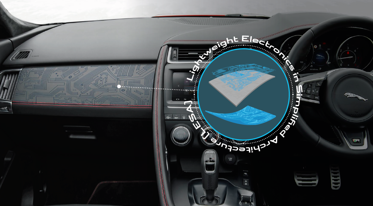 JLR nutzt gedruckte Elektronik in den Oberflächen des Fahrzeugcockpits