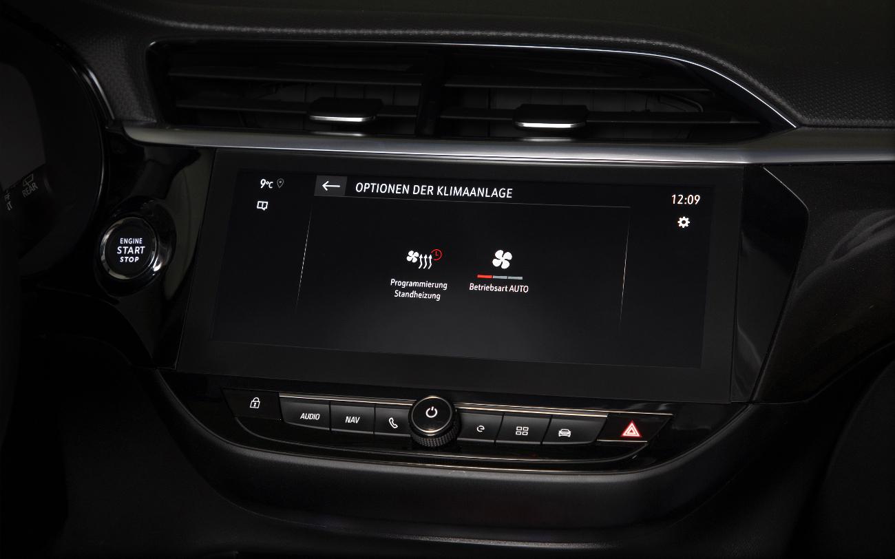 Opel Infotainment Klimatisierung Corsa-e